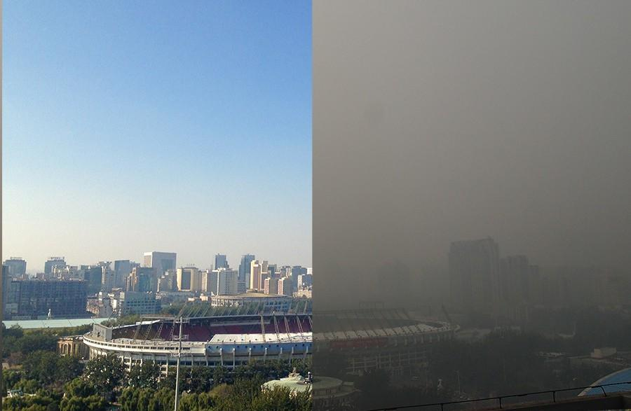 Beijing 'Olympic blue' sky