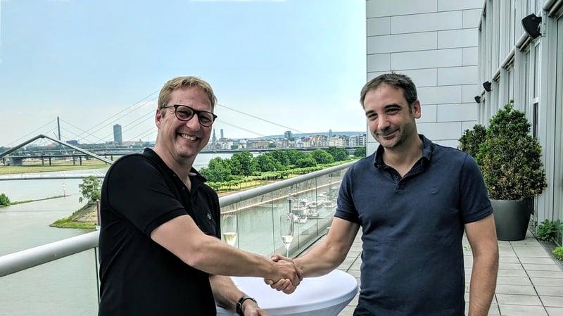 Dr. Volker Meise (Geschäftsführer Linkfluence Germany GmbH), Jens Schmitz (Geschäftsführer pressrelations GmbH)