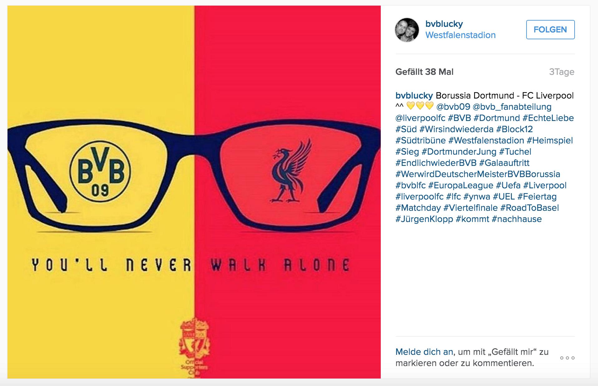 Klopp BVB vs. Liverpool Instagram