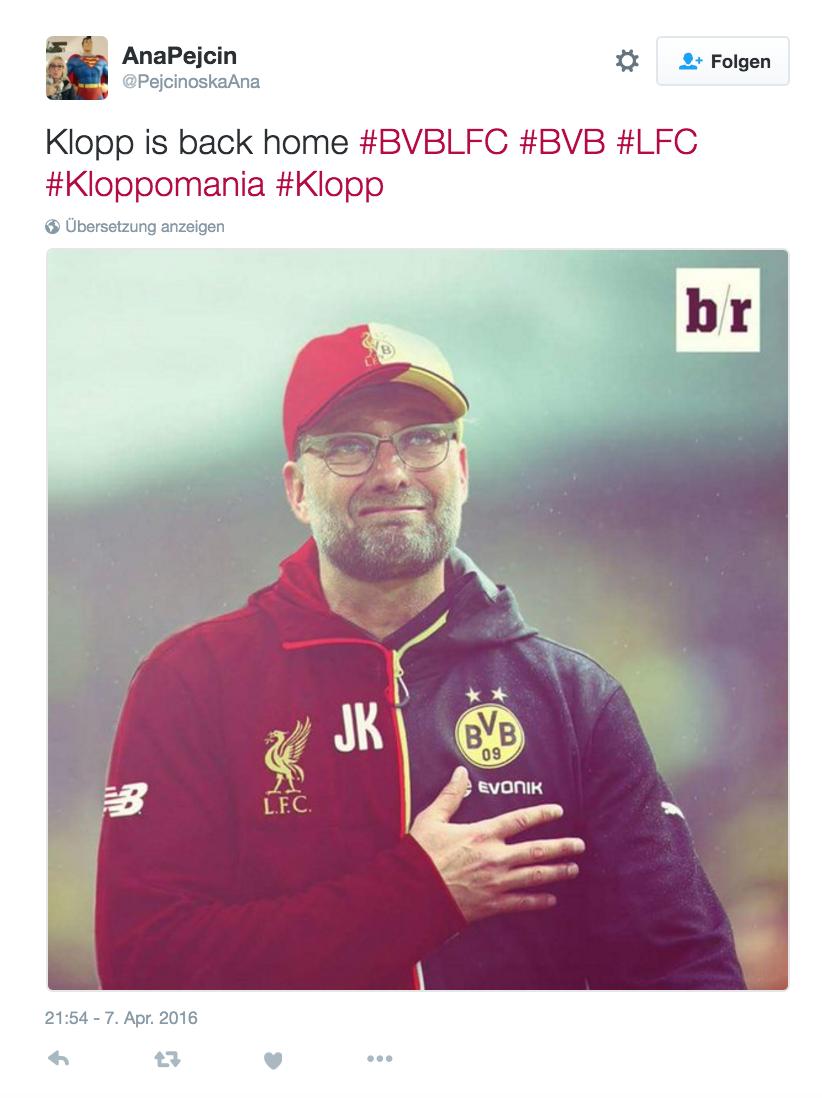 Klopp Spiel BVB vs. Liverpool