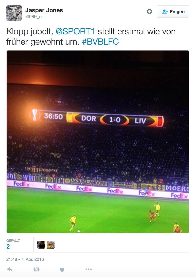 Klopp BVB vs. Liverpool Twitter