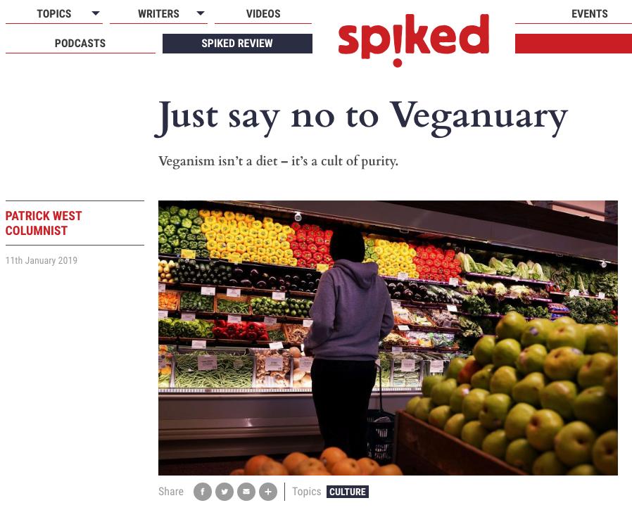 say no to veganuary