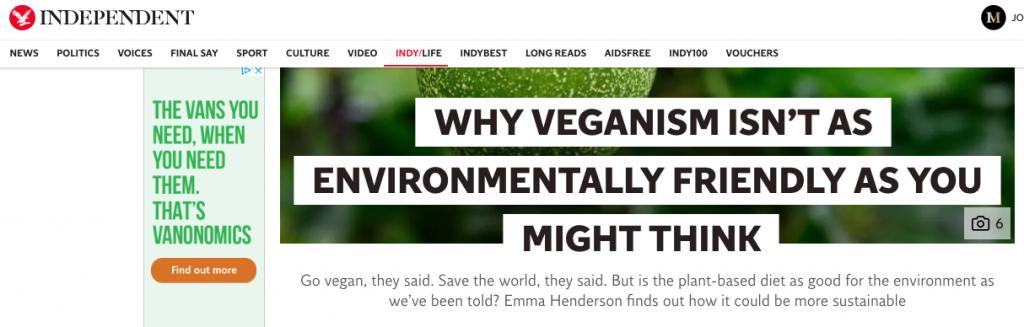 vegan controversy