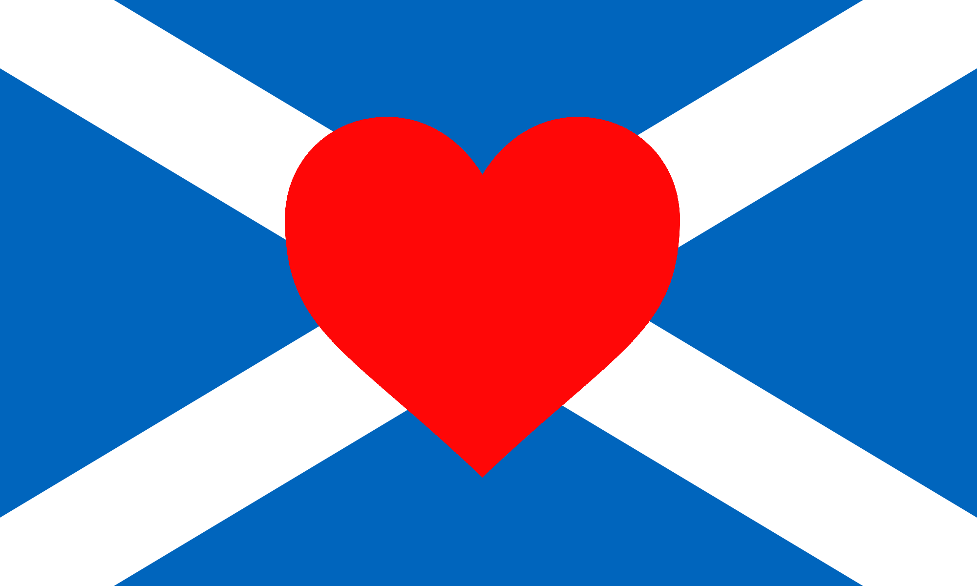 scottish flag and heart