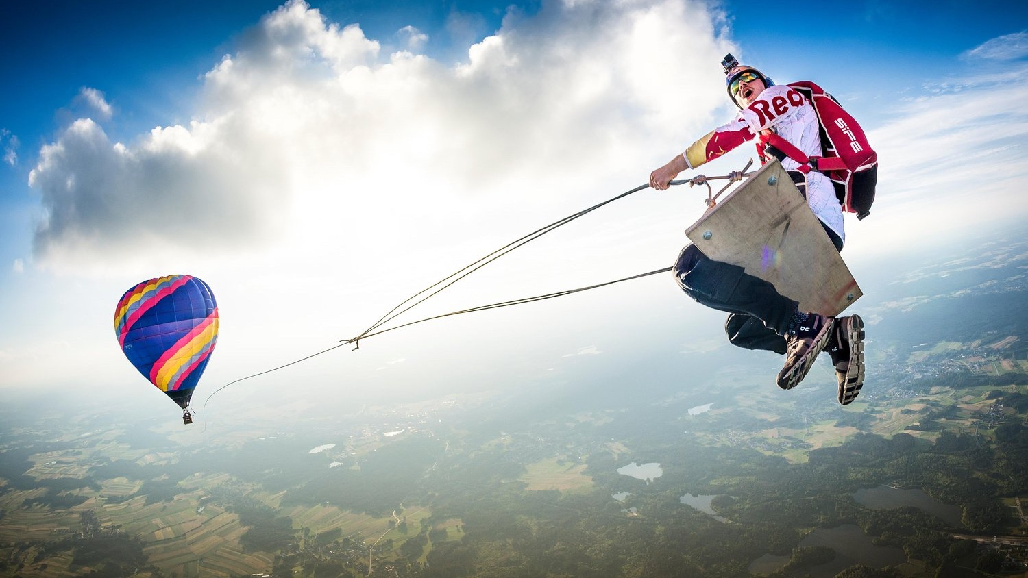Red Bull extreme sports hot air balloon brand strategy