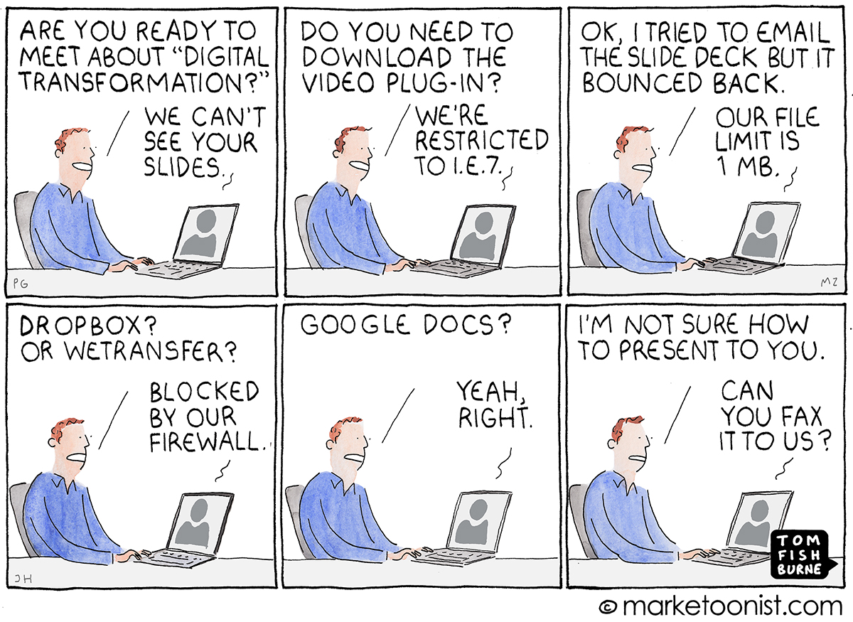 digital transformation marketoonist